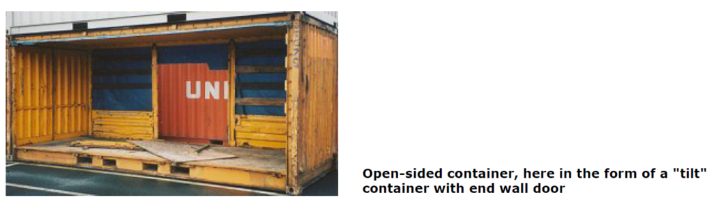 Open-sided containers