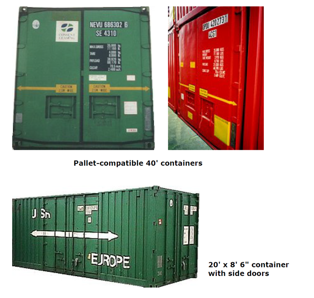 3.Open-top open-sided containers