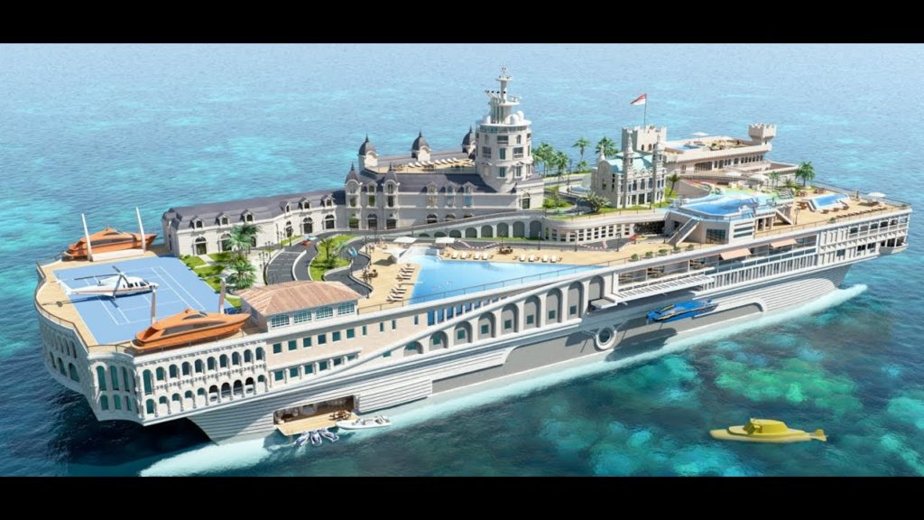Streets of Monaco – $1 Billion-Most luxurious yacht in the world