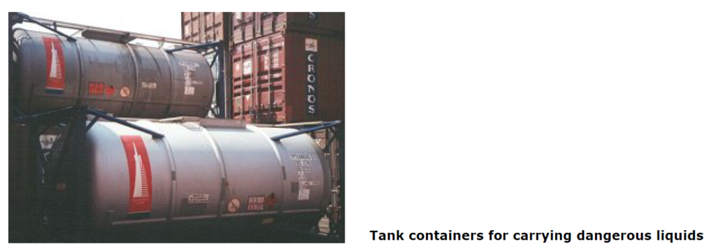Tank containers for dangerous liquids