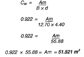 Solution for the midships area coefficient example-image