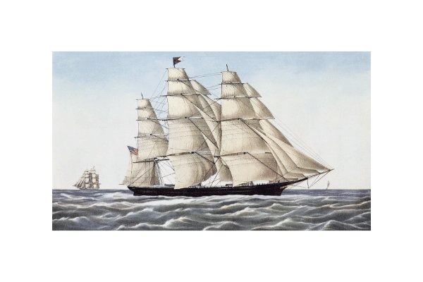 CLIPPER SHIP flying clouds